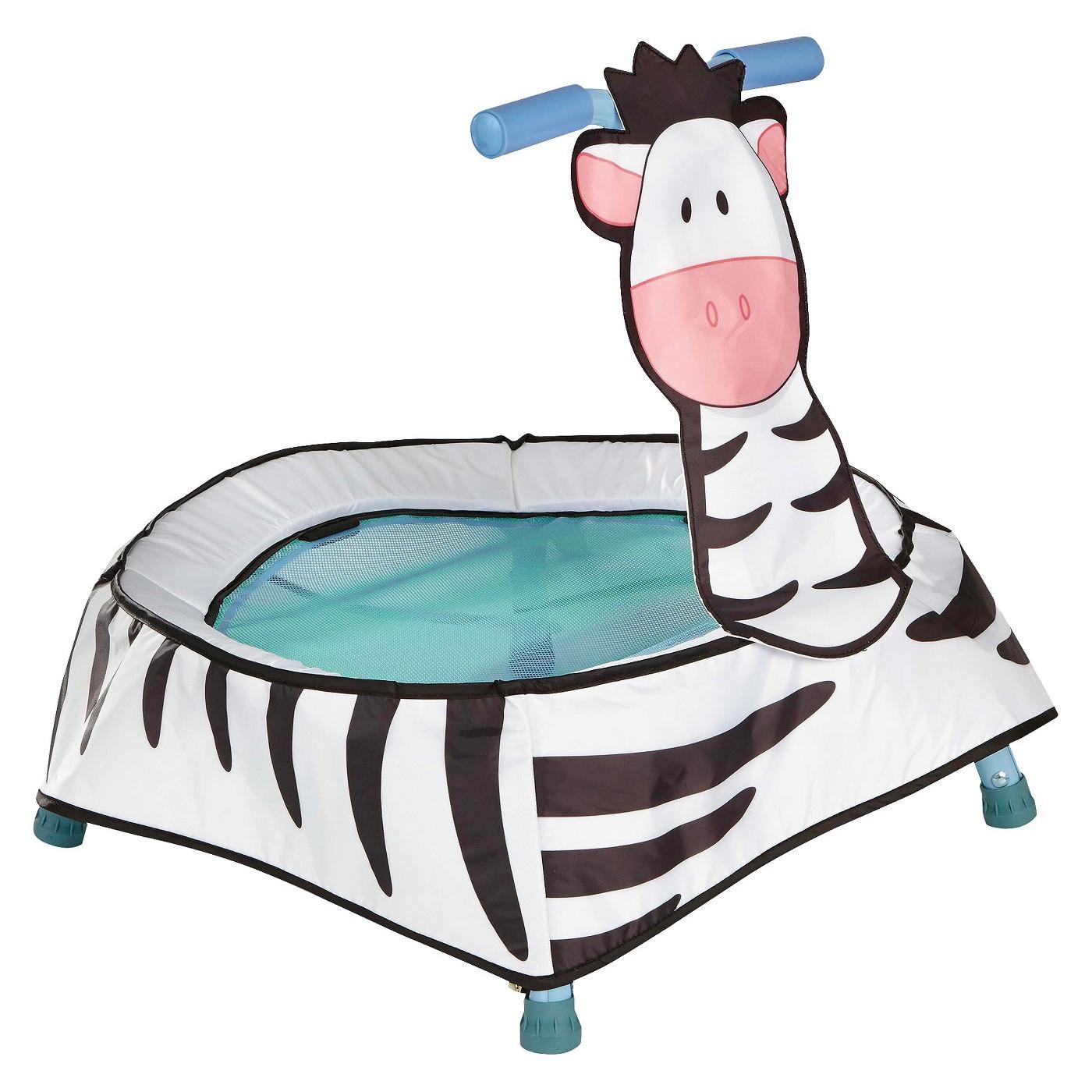 Diggin Boing Boing Zebra Toddler Trampoline