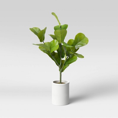 "32"" x 18"" Artificial Fiddle Leaf Plant in Pot - Threshold™"