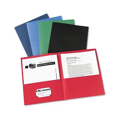 Avery Two-Pocket Folder 40-Sheet Capacity Assorted Colors 25/Box 47993