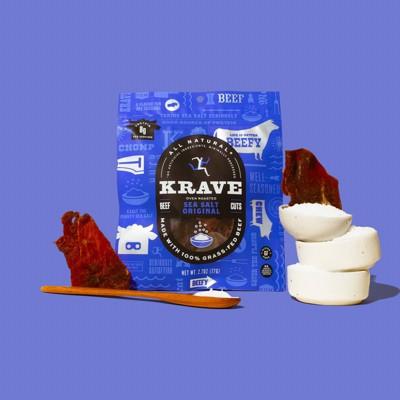 Krave Sea Salt Original Beef Jerky - 2.7oz