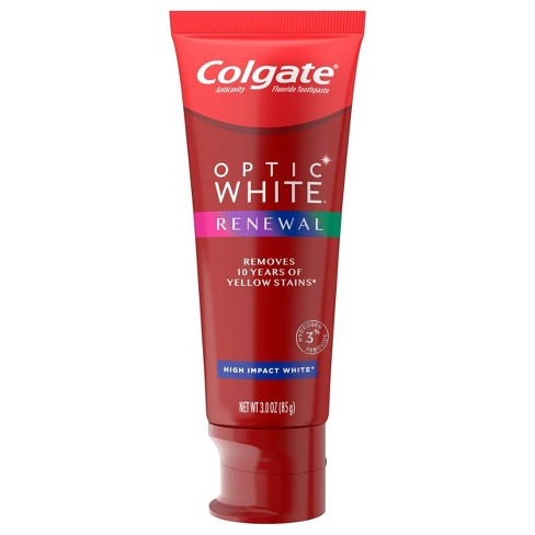 Colgate Optic White Renewal Teeth Whitening Toothpaste High Impact White 3oz Target