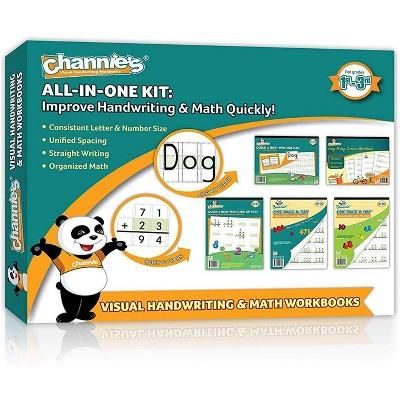 Channie's 5pk All-in-One Math, Handwriting & Cursive Workbooks - 1st-3rd Grades