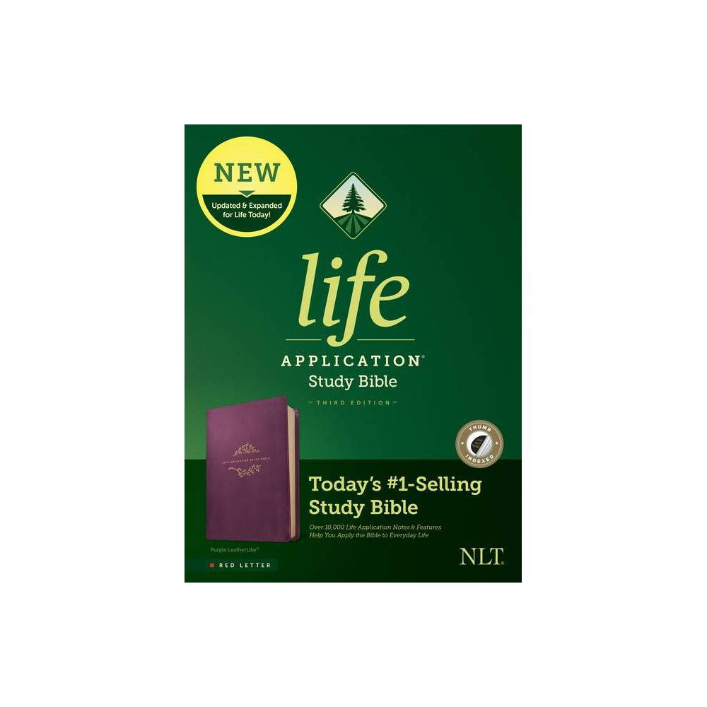 Nlt Life Application Study Bible Third Edition Red Letter Leatherlike Purple Indexed Leather Bound