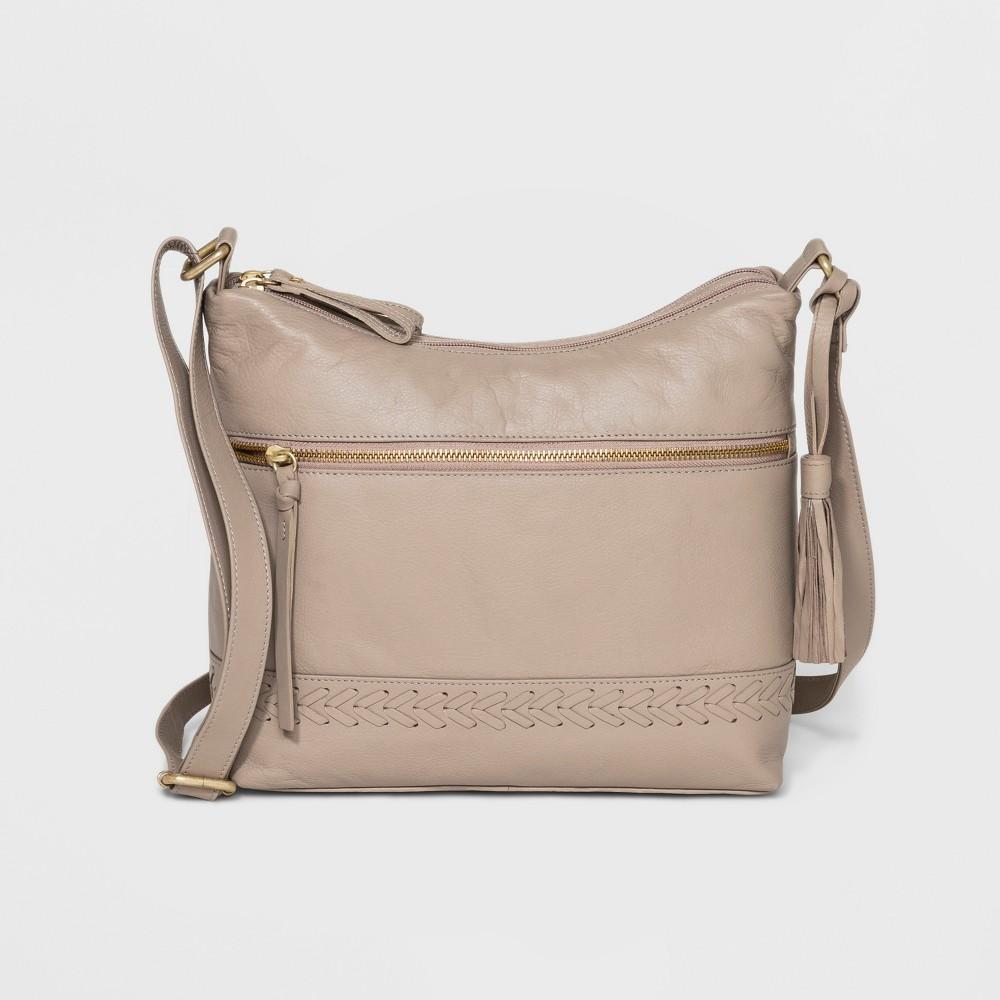 Image of Great American Leather Hobo Handbag - Light Beige, Women's