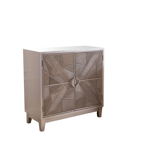 Milan Carved Two Door Cabinet - Abbyson Living - image 1 of 4