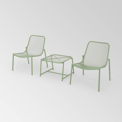Bucknell 3pc Iron Modern Chat Set - Christopher Knight Home - image 1 of 4