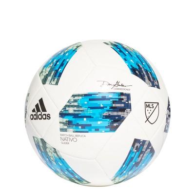 Adidas MLS Glider Size 3 Soccer Ball - White/Solar Blue