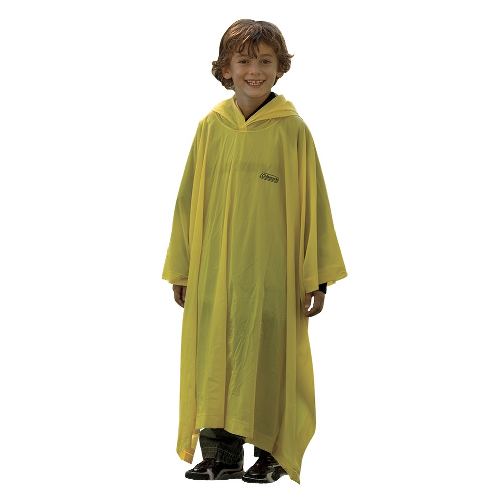 Image of Coleman Youth Poncho, Kids Unisex, White Yellow
