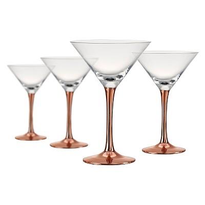 Artland Coppertino 4pk 8oz Martini Glasses Copper