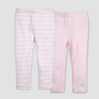 Burt's Bees Baby® Organic Cotton Girls' 2pk Pants Set - Pink 3-6M