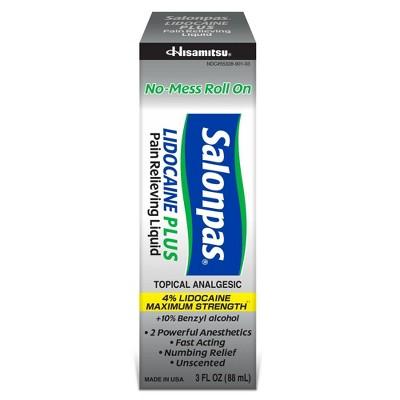 Salonpas Lidocaine Plus Pain Relieving Liquid Roll-on - 3 fl oz