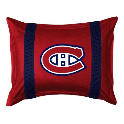 NHL Pillow Sham Sidelines Bed Accessory - Montreal Canadiens..