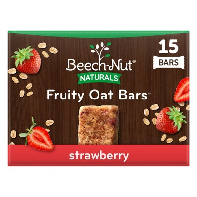 Beech-Nut Toddler Snack Strawberry Fruity Oat Bars - 15ct