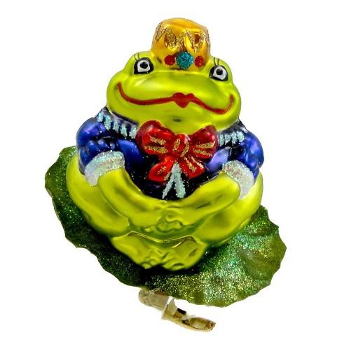 Christopher Radko Lilypad Princess Ornament Frog Clip-On - image 1 of 2