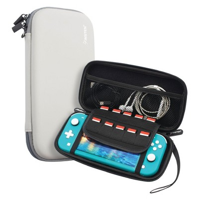Insten For Nintendo Switch Lite Carry Case - Protective Hard Shell, Portable Travel Zipper Pouch - Gray