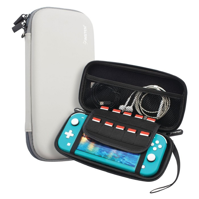 Insten For Nintendo Switch Lite Carry Case - Protective Hard Shell, Portable Travel Zipper Pouch - Gray : Target