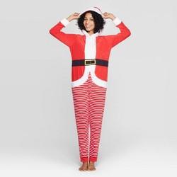 Women's Santa Union Suit - Red