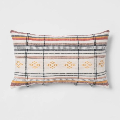 """14""""x24"""" Oversized Global Striped Lumbar Throw Pillow with Cording - Opalhouse™"""