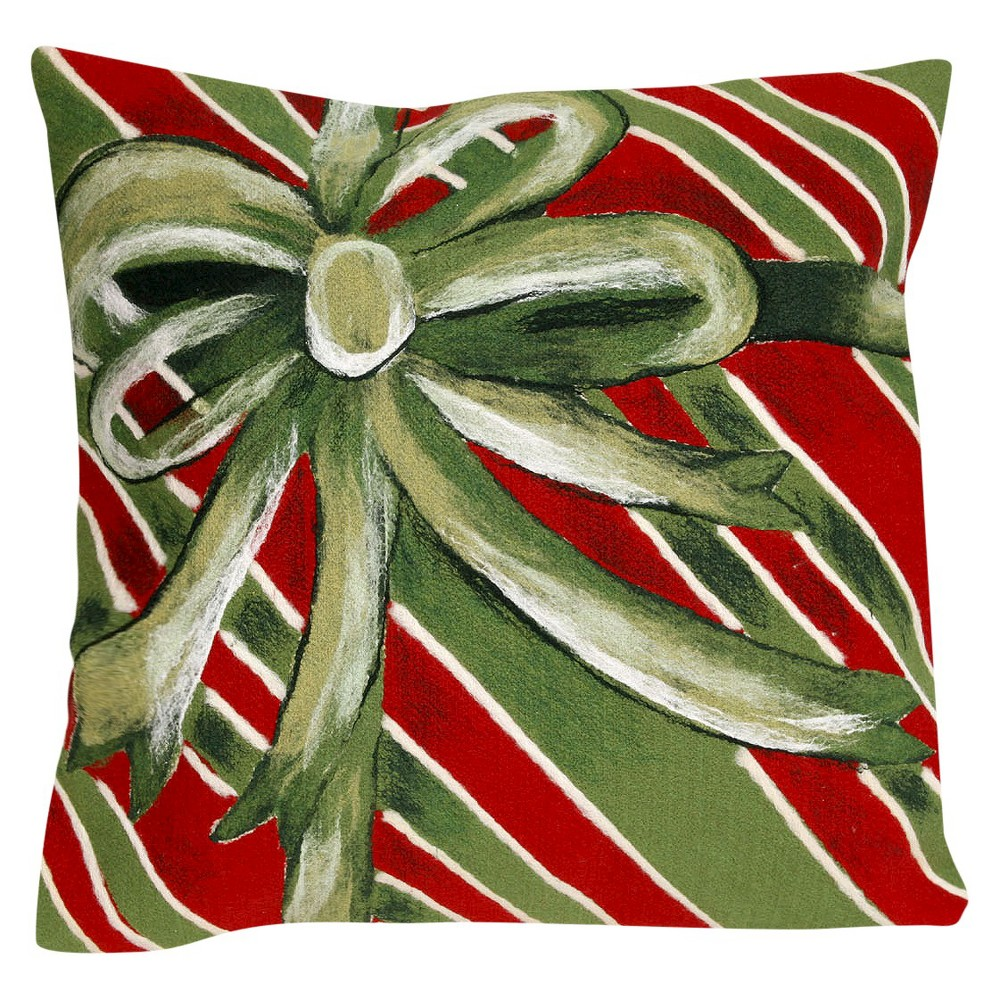 Green Gift Box n/Out Throw Pillow (20