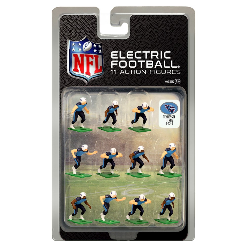 Nfl Tennessee Titans Tudor Games Home Uniform Electric Football Action Figure Set
