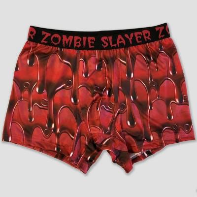 e880e0cc902c3 Men's Zombie Slayer Boxer Briefs – Red M – BrickSeek