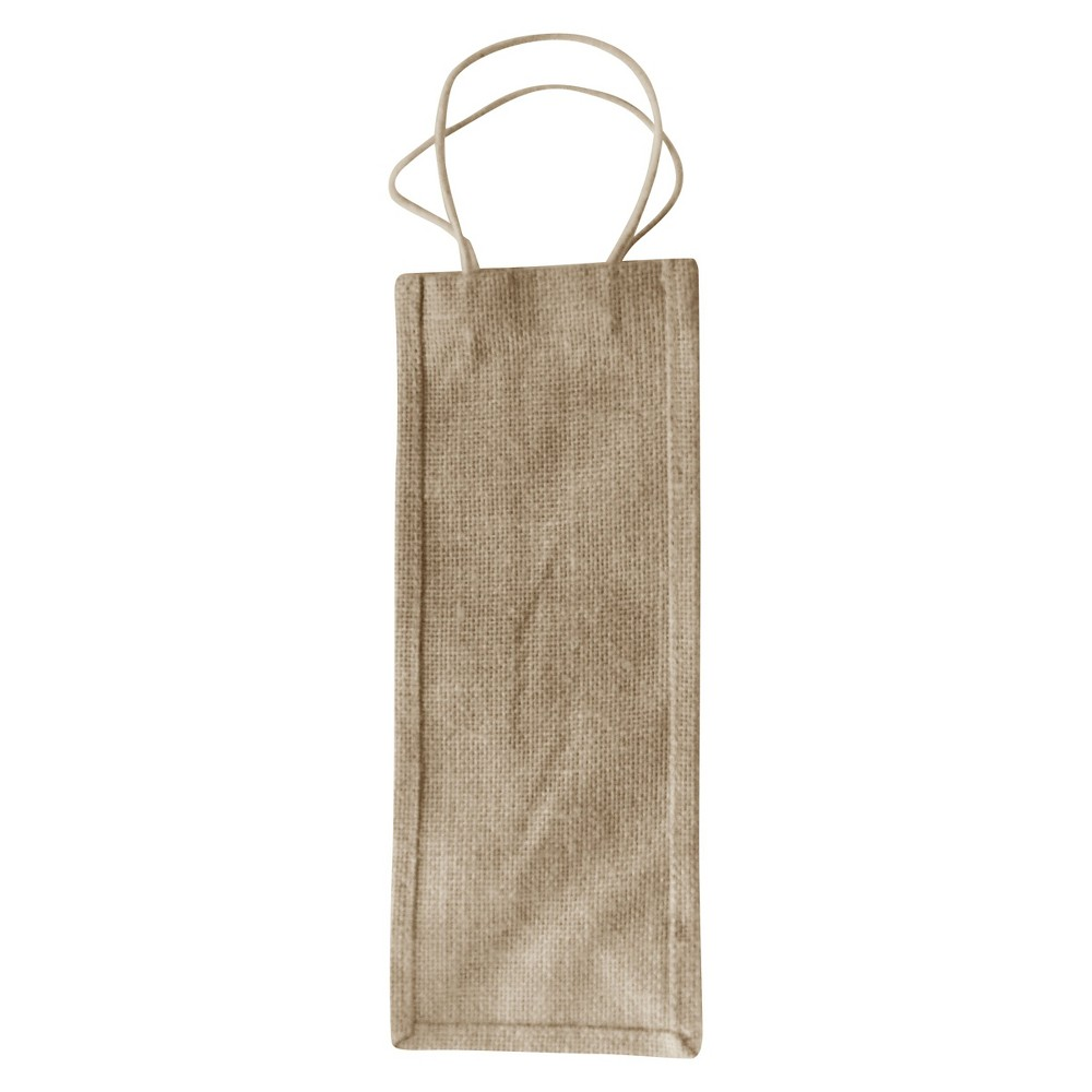 Burlap Wine Bags, Natural, 5x13 , Pack of 2