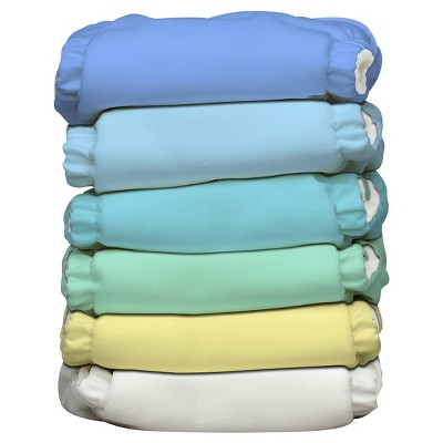 Charlie Banana ® All-in-One Reusable Diaper 6 pack One Size - Pastel