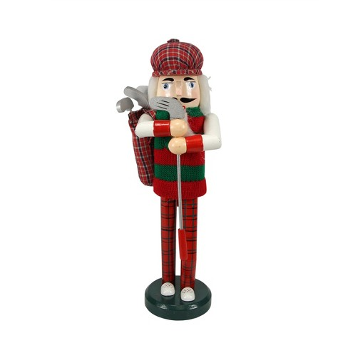Christmas Nutcracker.Northlight 14 Wooden Golfer Christmas Nutcracker With Club