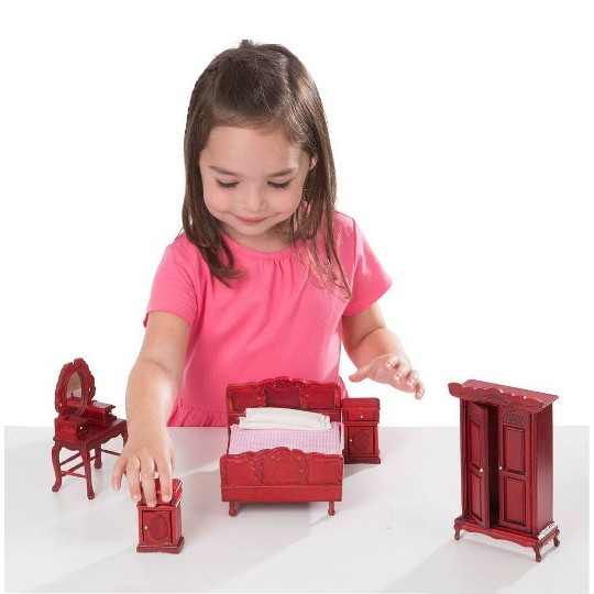 Melissa & Doug Classic Victorian Wooden and Upholstered Dollhouse Furniture (35pc) image number null