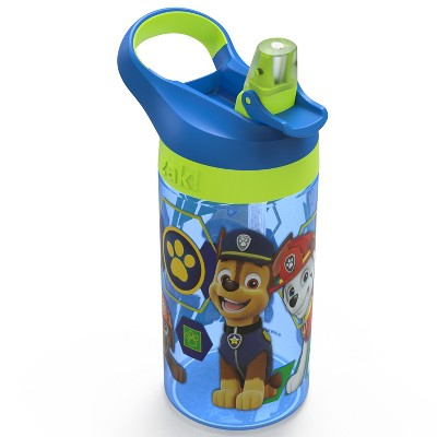 PAW Patrol 16oz Plastic Water Bottle Blue/Green - Zak Designs