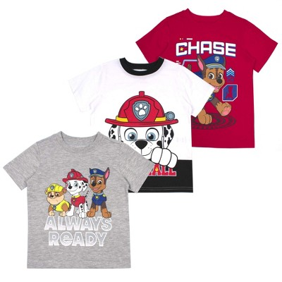 Nickelodeon Boy's 3-Pack Character Print T-Shirt Assortment for Toddlers
