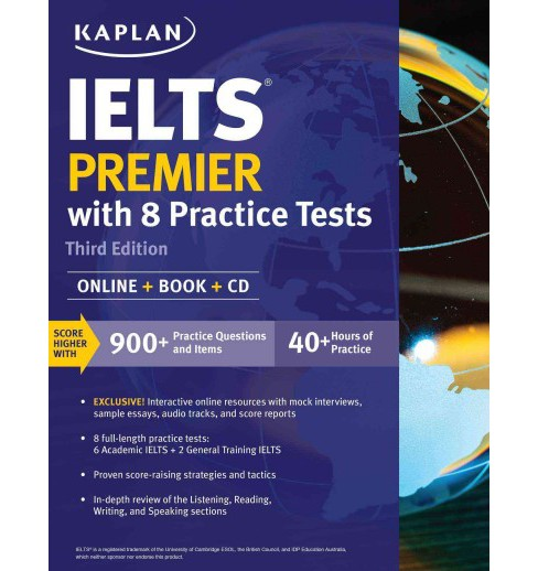 Kaplan IELTS Premier : With 8 Practice Tests (Paperback) - image 1 of 1