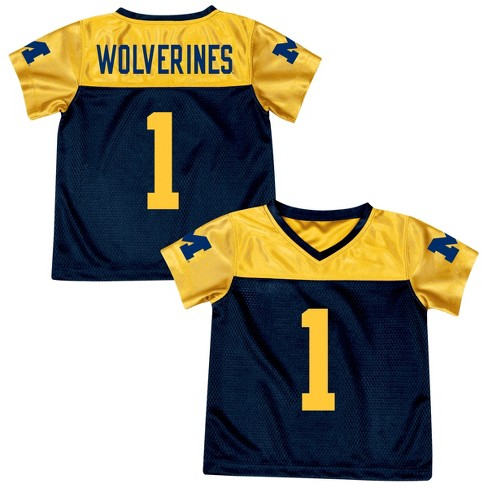 5bd61b4d7e9 Michigan Wolverines Boys  Short Sleeve Replica Jersey   Target