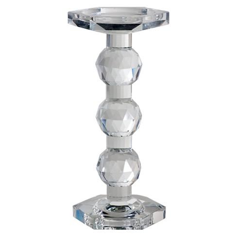 A/&B Home Crystal Flower Vase /& Votive Holder 4 by 4-Inch