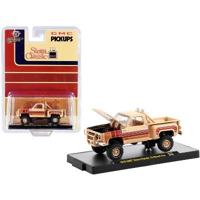 """1976 GMC Sierra Classic 15 Pickup Truck """"Desert Fox"""" Buckskin Tan w/Stripes Ltd Ed 8250pcs 1/64 Diecast Model Car by M2 Machines"""