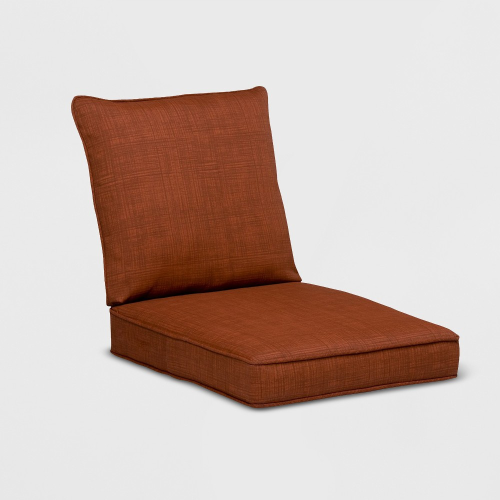 Image of Madaga Outdoor Conversation/Deep Seating Cushion Set Red - Grand Basket