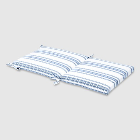Ticking Stripe Outdoor Chair Cushion Navy Threshold