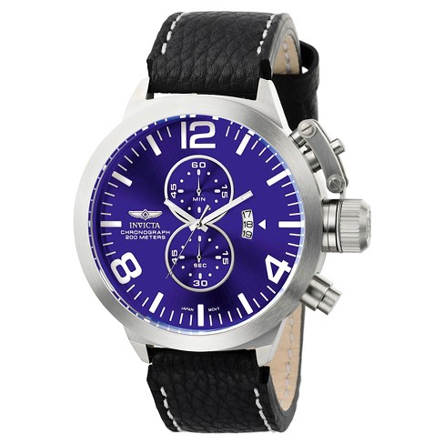 Men's Invicta 6603 Corduba Quartz Multifunction Blue Dial Strap Watch - Black - image 1 of 1