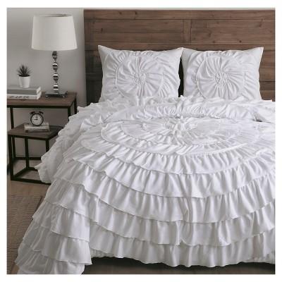 White Sadie Comforter Set (King)3pc