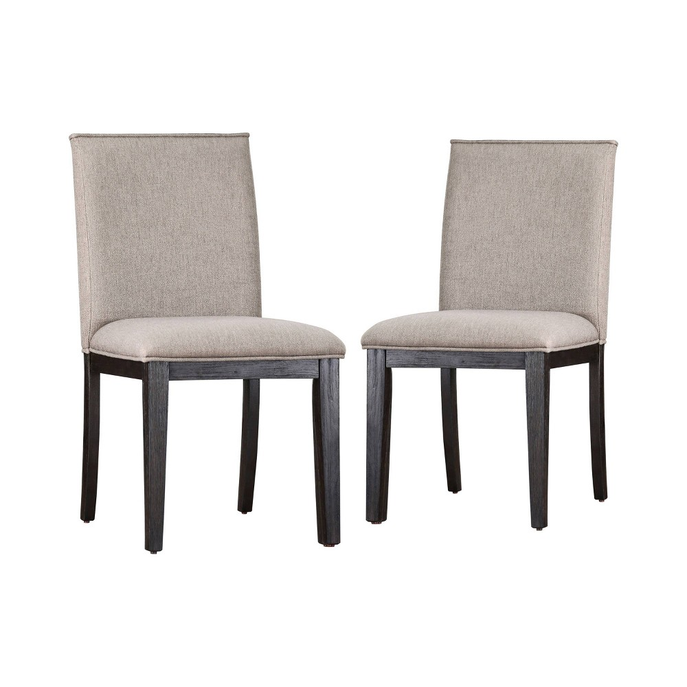Set of 2 Marsden Upholstered Dining Chairs Espresso (Brown) - miBasics