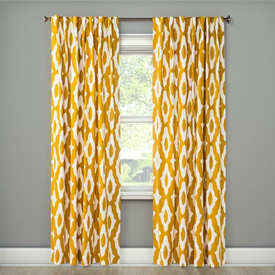 "84""x54"" Light Filtering Curtain Panel Summer Yellow - Project 62™"