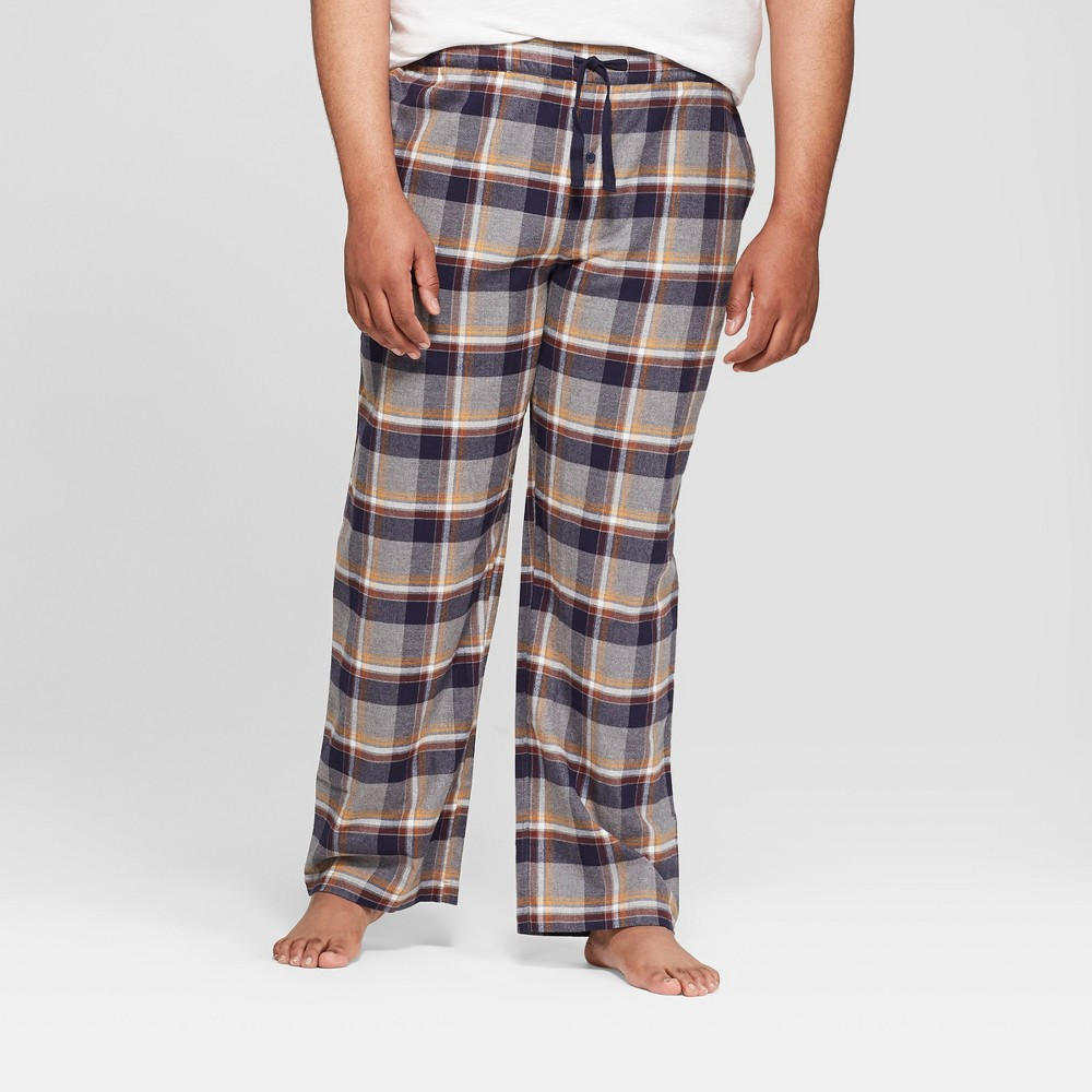 Men's Big & Tall Plaid Flannel Pajama Pants - Goodfellow & Co Masonry Gray 4XB