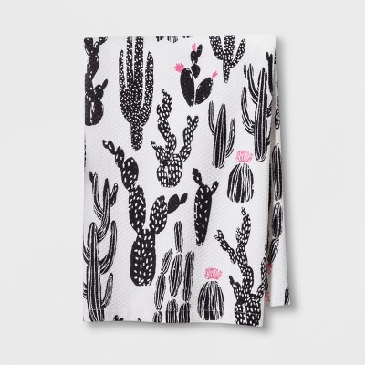 Black White And Pink Kitchen Towel - Room Essentials™