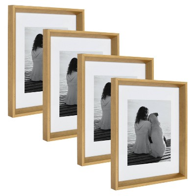 """11"""" x 14"""" Matted to 8"""" x 10"""" Calter Wall Frame Gold - Kate and Laurel"""