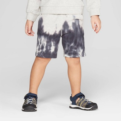 Toddler Boys' Tie Dye Knit Pull-On Shorts - art class™ Heather Gray 3T