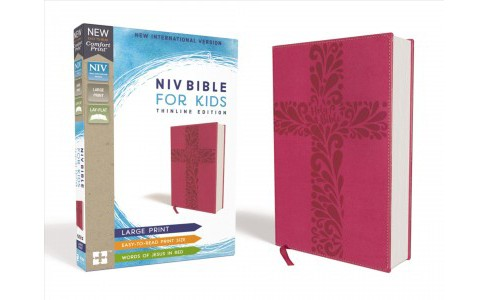 Holy Bible : New International Version, Pink, Leathersoft, Bible for Kids, Thinline Edition - Large - image 1 of 1