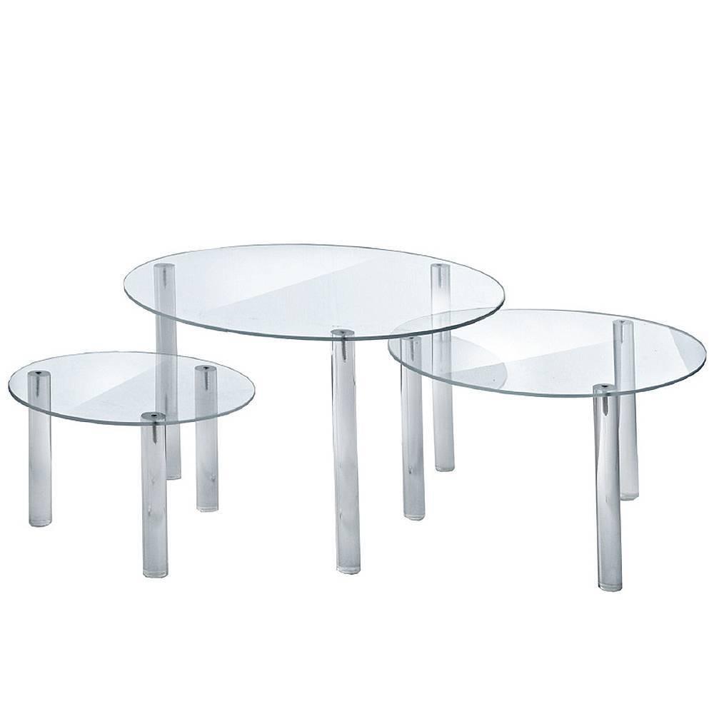 Azar Displays Round Acrylic Riser Display Set Of 3