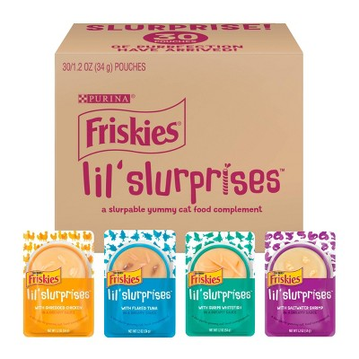 Friskies Lil Slurprises Wet Cat Food Complement Variety Pack - 1.2oz/30ct