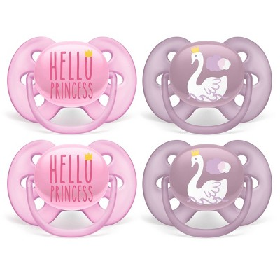 Philips Avent Ultra Soft Pacifier Hello Princess and Swan 6-18 Months