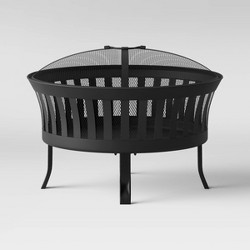 "25"" Slat Cauldron Fire Pit - Black - Threshold™"